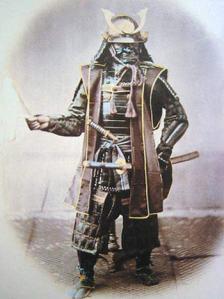 samurai warrior in armor