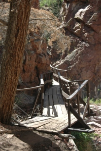 Wooden bridge at Glen Eyrie