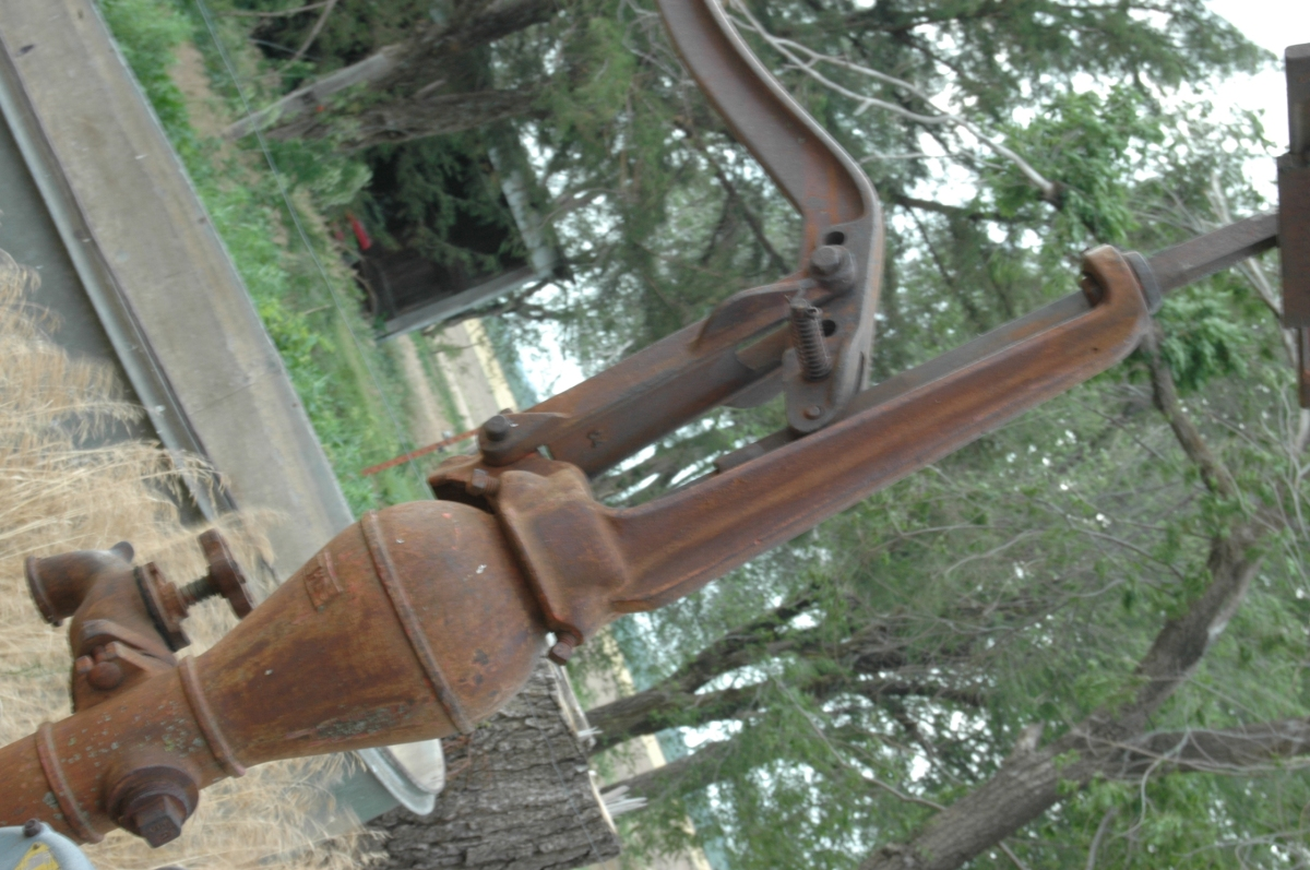 Rusty pump well