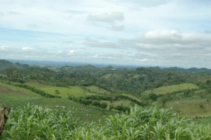 Mountains and jungle and corn - Peten, Guatemala