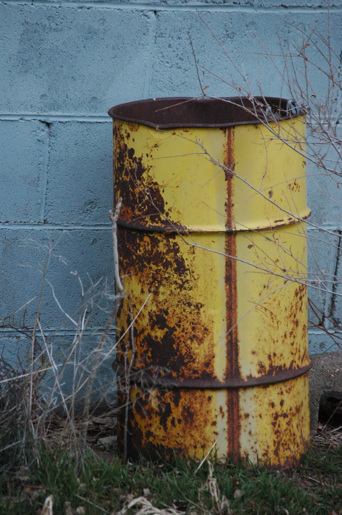 Old oil barrel - Safe Haven Farm, Haven, KS