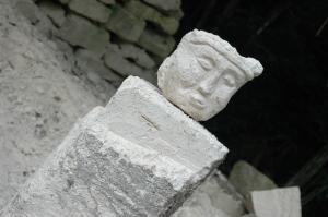 Stone face at Tikal - Peten, Guatemala
