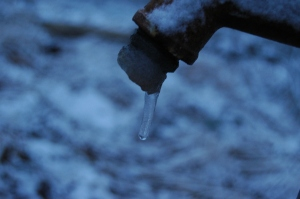 Frozen faucet - Safe Haven Farm, Haven, KS