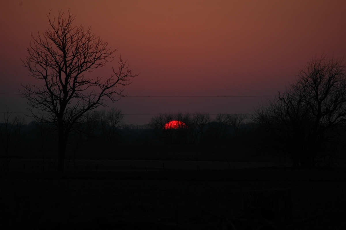 Sun almost set - Safe Haven Farm, Haven, KS
