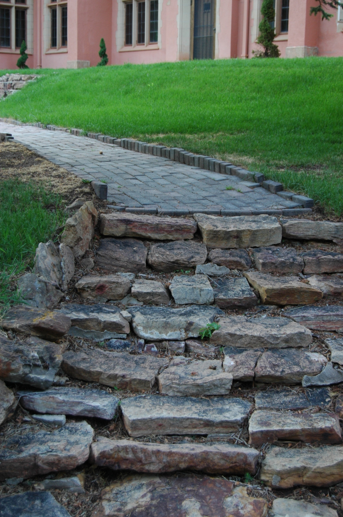 Stone path beside the Pink House - Glen Eyrie, Colorado Springs, CO