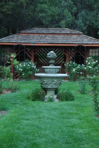 Fountain in the Rose Garden - Glen Eyrie, Colorado Springs, CO