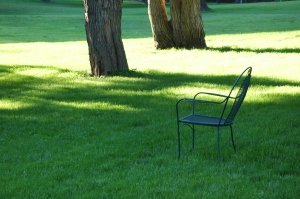 Chair on the lawn - Glen Eyrie, Colorado Springs, CO