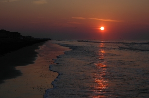 Sunrise on the beach - Galveston, TX