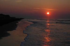 Sunrise on the beach - Galveston, TX