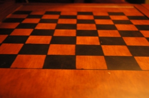 Chessboard table in the Pink House loft - Glen Eyrie, Colorado Springs, CO