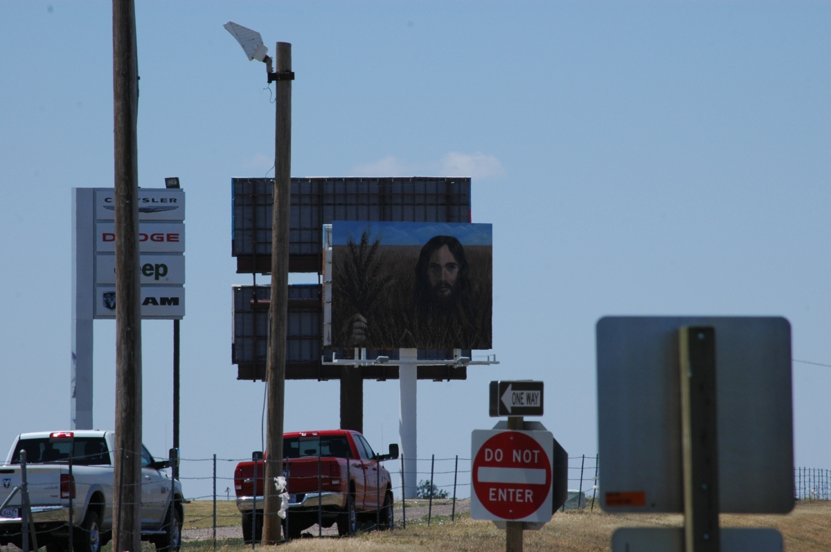 Jesus on a billboard - Hays, KS