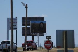 Jesus on a billboard - Colby, KS