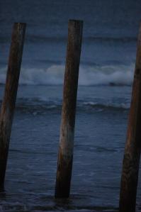Posts on Jamaica Beach at sunrise - Galveston, TX