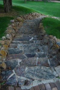 Stone steps at Glen Eyrie - Colorado Springs, CO