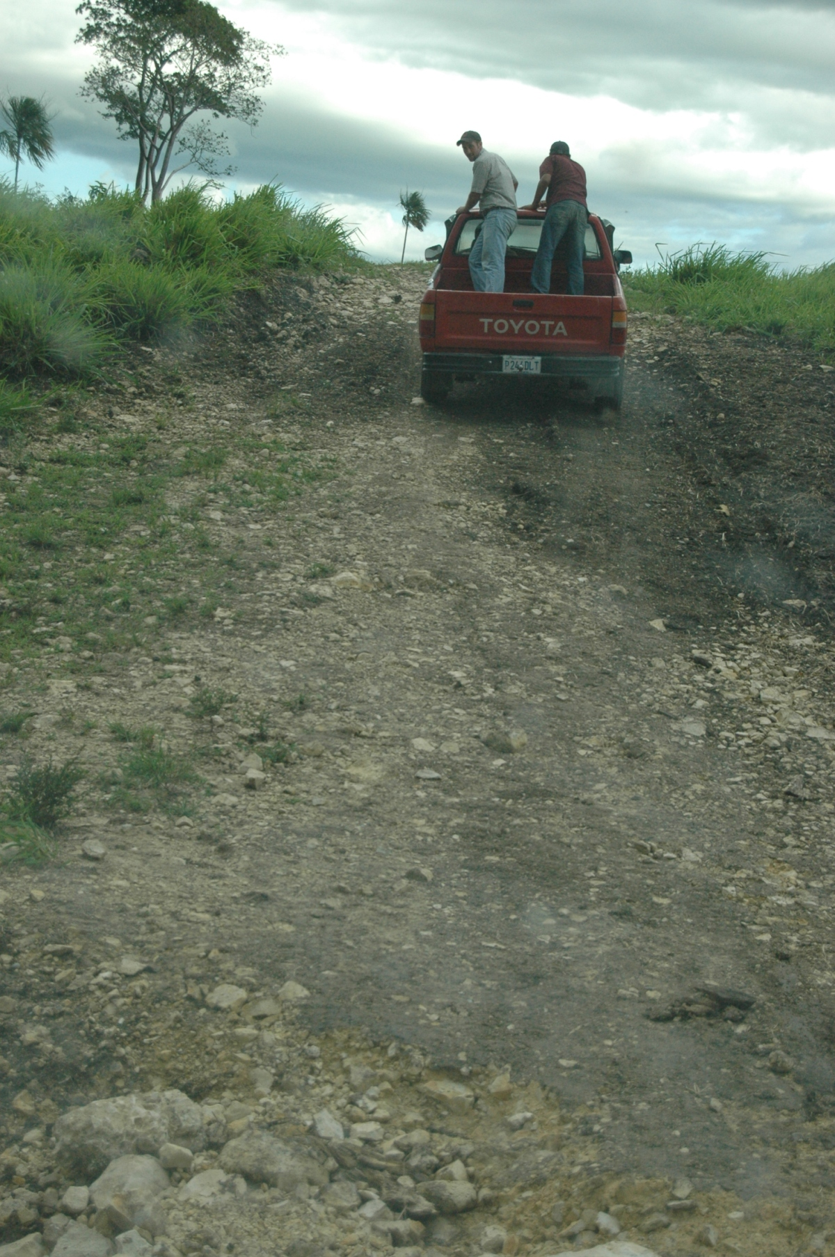 Rough road to San Miguel - Peten, Guatemala