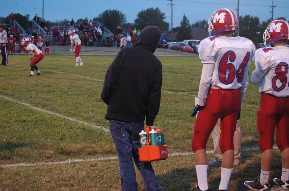Water Boy for the Marion Warriors football team - Hutchinson, KS