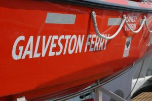 Lifeboat on the Galveston Ferry, Galveston, TX