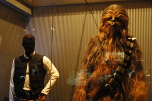 Han Solo and Chewbacca costumes from the Star Wars Exhibit at Exploration Place, Wichita, KS