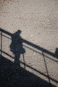My shadow at the Sedgwick County Zoo, Wichita, KS