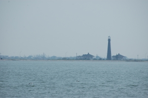 Bolivar Island lighthouse from the Galveston Ferry, Galveston, TX
