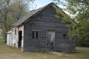 The old schoolhouse at Safe Haven Farm, Haven, KS