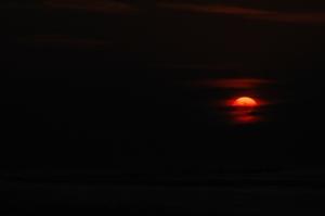 Sunrise over the Gulf of Mexico on Jamaica Beach, Galveston, TX