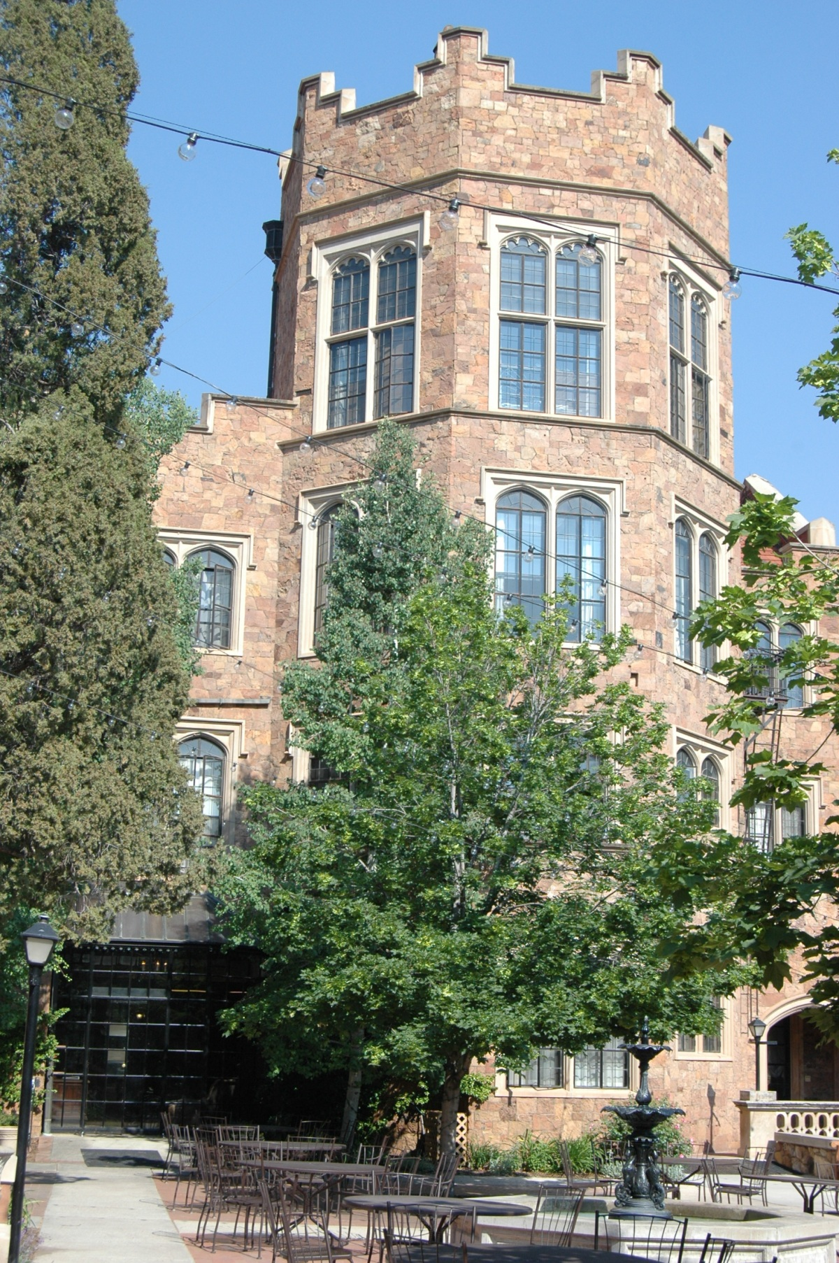 Castle turret at Glen Eyrie, Colorado Springs, CO