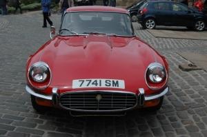 Jaguar parked at Edinburgh Castle, Edinburgh, Scotland