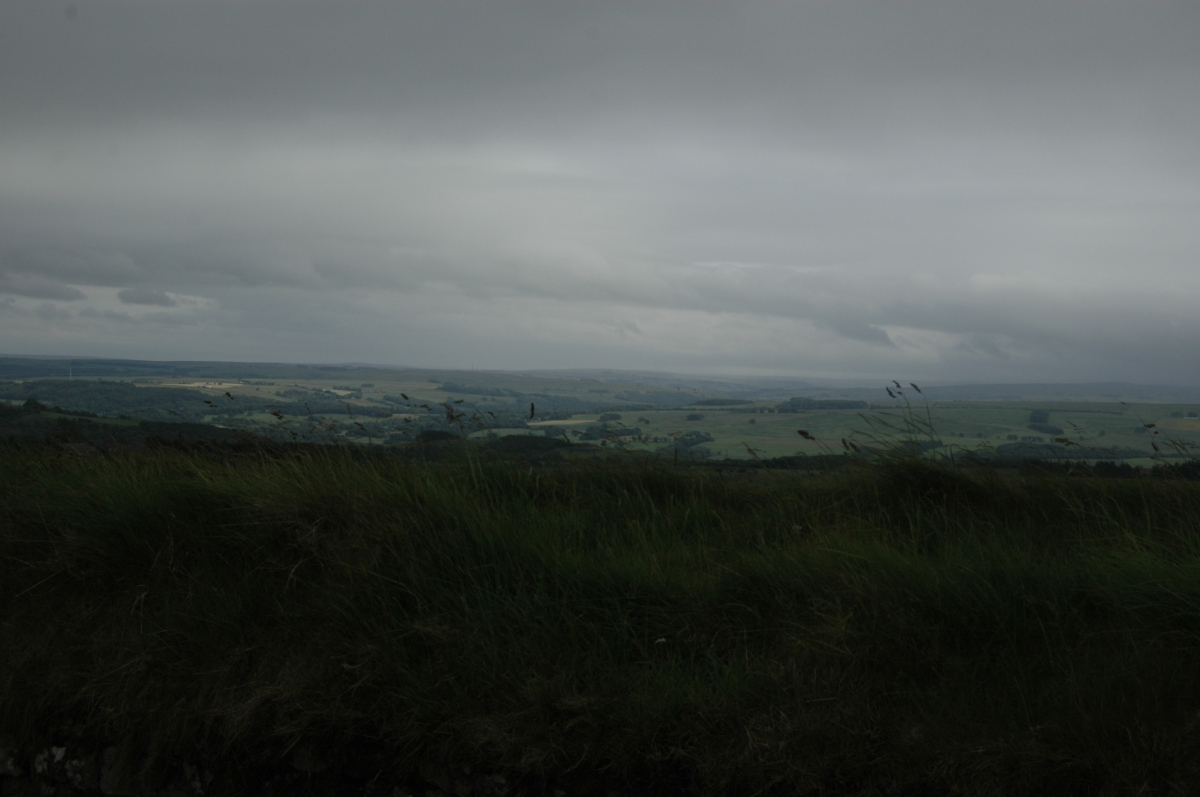 The view from Hadrian's Wall, Northern England