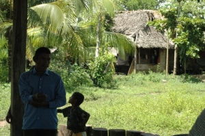 Leader of El Chilar, a Kekchi Village that had never seen white people before we visited, Peten, Guatemala