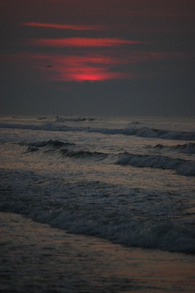 Sunrise on the Gulf of Mexico, Jamaica Beach, Galveston, TX