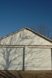 The garage at Safe Haven Farm, Haven, KS