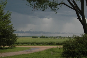 Storms north of Safe Haven Farm, Haven, KS