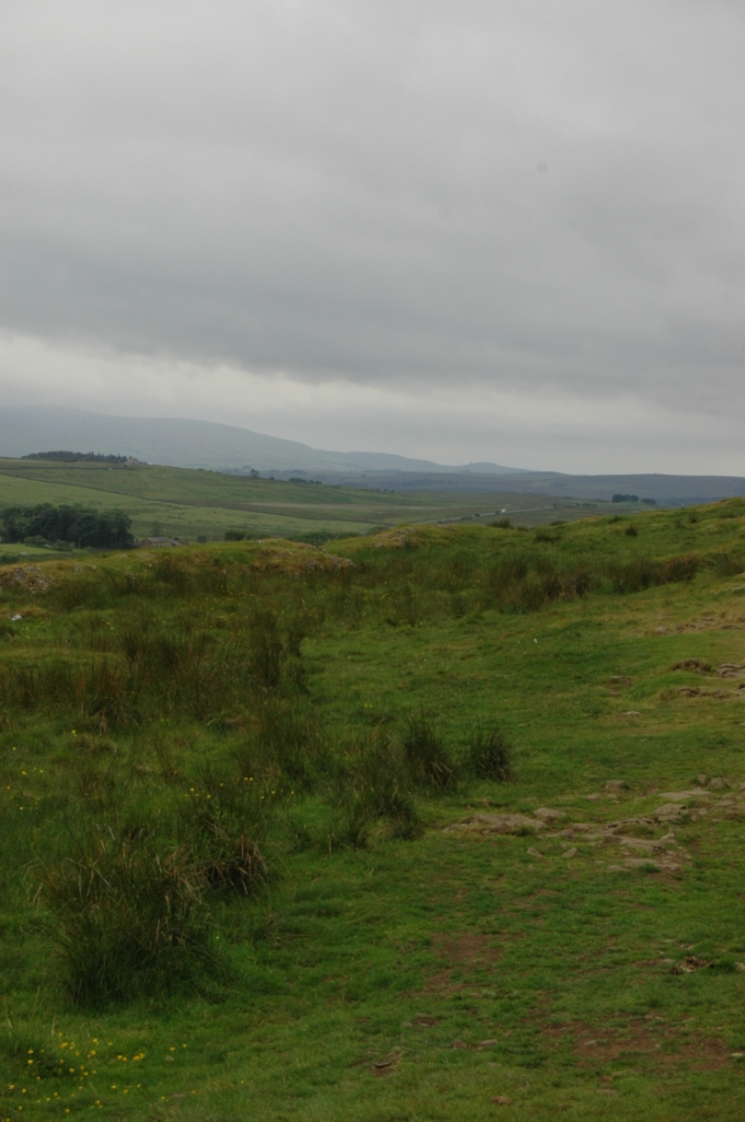 Rainy afternoon in the hills around Hadrian's Wall, Northern England