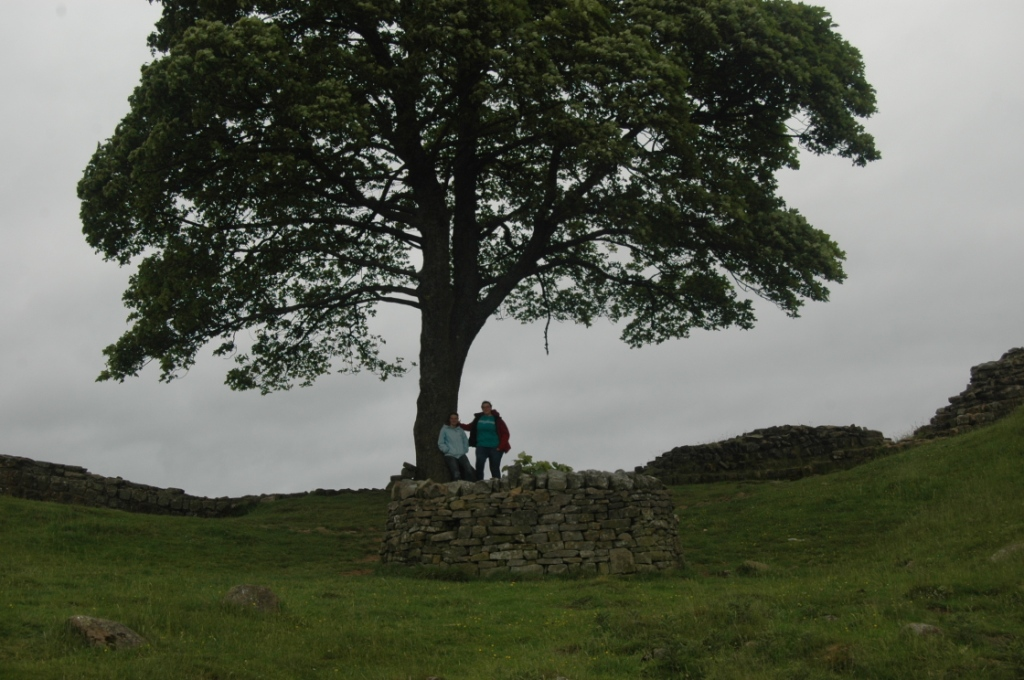 Me and best friend Katie under the Robin Hood tree along Hadrian's Wall, Northern England