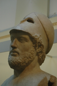 Bust of Pericles in the British Museum, London, England