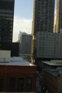 View from my hotel room window, Chicago, IL