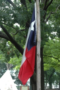 The flag of Texas at the Dallas Arboretum, Dallas, TX