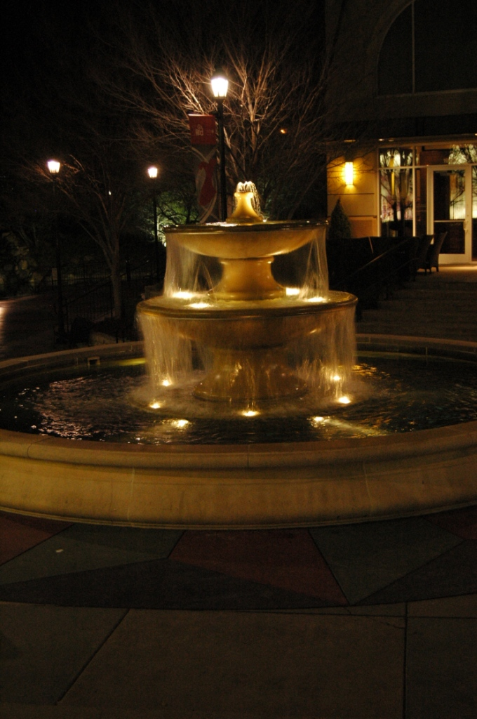 The plaza fountain at Bradley Fair, Wichita, KS