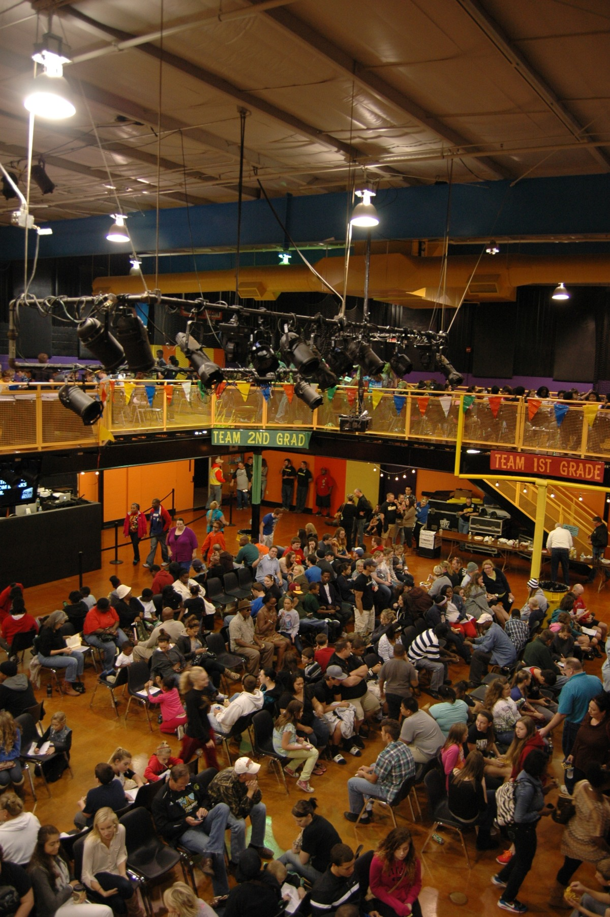 The gym at NewSpring Church during Judgement House 2013, Wichita, KS