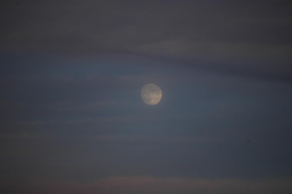 Moon rising over Safe Haven Farm, Haven, KS