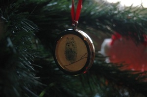 Ornament with my brother's print on it, Haven, KS