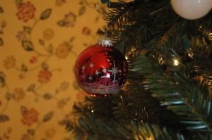 Star of Bethlehem ornament on my tree, Haven, KS
