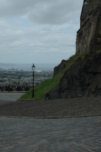A lamp post at Edinburgh Castle, Edinburgh, Scotland, UK