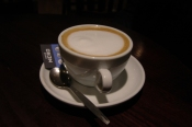 My beautiful latte from Café Nero at Waverly Station, Edinburgh, Scotland
