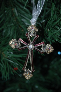 Decorative cross ornament from my Christmas tree, Haven, KS