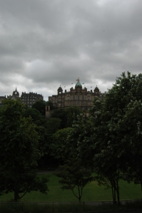 Edinburgh, Scotland on a cloudy morning