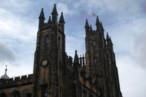 Spires of the University of Edinburgh, Edinburgh, Scotland, United Kingdom