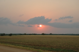 Sunset at Safe Haven Farm, Haven, KS