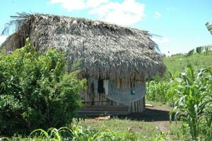 Kekchi home in Esfuerzo Dos, Peten, Guatemala